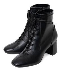ブーツ 【20AW新作】【REZOY】スクエアトゥレースアップショートブーツ|ZOZOTOWN PayPayモール店