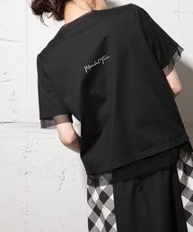 tシャツ Tシャツ シアーレイヤードロゴTシャツ|ZOZOTOWN PayPayモール店