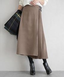 スカート プリーツ切り替えラップスカート|ZOZOTOWN PayPayモール店