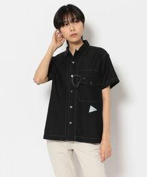 シャツ ブラウス and wander/アンドワンダー dry linen open collar shirt ドライリネンオープンカラーシャツ 57|ZOZOTOWN PayPayモール店