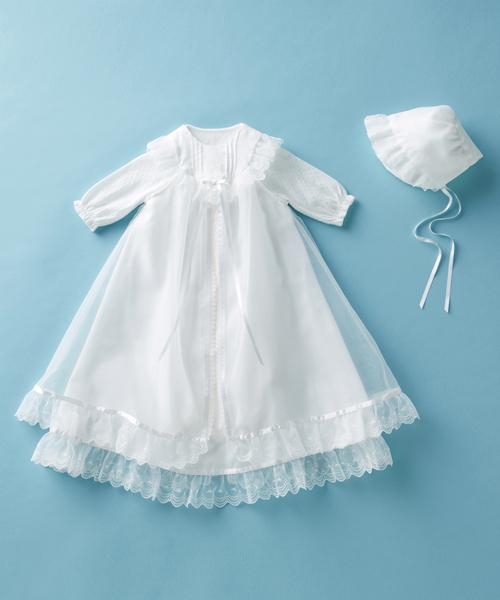 ベビー服 豪華サテンのセレモニードレス3点セット