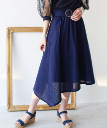 スカート REAL CUBE ベルト付リネンイレギュラーヘムスカート|ZOZOTOWN PayPayモール店