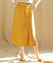 スカート IEDIT ラップ風ストレッチロングスカート|ZOZOTOWN PayPayモール店