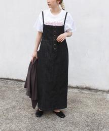 ワンピース ジャンパースカート [再入荷][洗える]10.5oz デニムオールインスカート[S/M/LL/3L/4L/5L]|ZOZOTOWN PayPayモール店