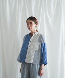 シャツ ブラウス MIXストライプ ワイドシャツ|ZOZOTOWN PayPayモール店