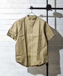 シャツ ブラウス 《select ITEM》ストレッチオックスフォードバンドカラー半袖シャツ|ZOZOTOWN PayPayモール店