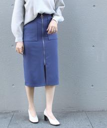 スカート [追加][洗える]ジョーゼットポンチタイトスカート【大きいサイズ/セットアップ対応】|ZOZOTOWN PayPayモール店