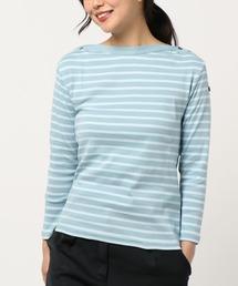tシャツ Tシャツ 【Le Minor/ルミノア】ボートネックショルダーボタンカットソー|ZOZOTOWN PayPayモール店
