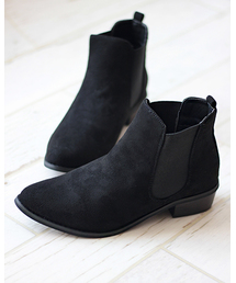ブーツ 美シルエット、やわらかい履き心地 美脚サイドゴアブーツ ZOZOTOWN PayPayモール店