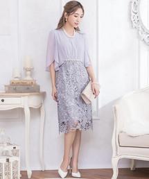 ドレス シフォン袖レーススカートワンピ|ZOZOTOWN PayPayモール店