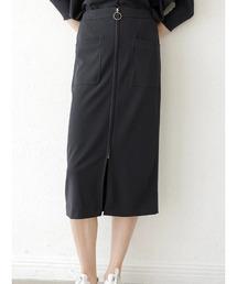 スカート カットジョーゼットフロントZIPタイトスカート|ZOZOTOWN PayPayモール店