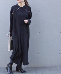 ワンピース シャツワンピース 【追加生産】[洗える]パイピングシャツワンピース【大きいサイズ対応】|ZOZOTOWN PayPayモール店