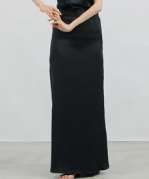 スカート マーメイドサテンロングスカート/バッグスリット/ウエストゴム|ZOZOTOWN PayPayモール店