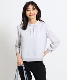 tシャツ Tシャツ 【洗える】ロール襟ストライプヨウリューブラウス|ZOZOTOWN PayPayモール店