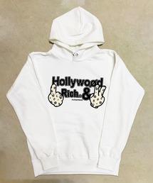 パーカー 【Hollywood rich.& / ハリウッドリッチドットアンド】 パンクベアプリントプルオーバーパーカー|ZOZOTOWN PayPayモール店