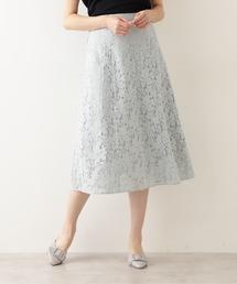 スカート リネン混レースフレアスカート ZOZOTOWN PayPayモール店