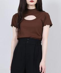 tシャツ Tシャツ カットアウトリブトップス ZOZOTOWN PayPayモール店