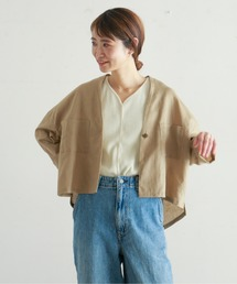 シャツ ブラウス ライトキャンバスワッシャー ルーズ羽織シャツ|ZOZOTOWN PayPayモール店