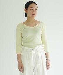 tシャツ Tシャツ コットンテレコジャージー ワイドVネックプルオーバー|ZOZOTOWN PayPayモール店
