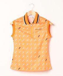 ポロシャツ 【UV】【吸水速乾】モノグラム柄プリントフレンチスリーブポロシャツ|ZOZOTOWN PayPayモール店