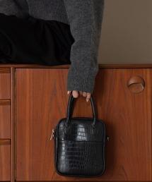 バッグ ハンドバッグ 2wayクロコ柄スクエアレザーハンドバッグ|ZOZOTOWN PayPayモール店