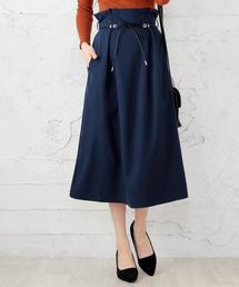 スカート サイドフレアスカート 紐ベルト付き ZOZOTOWN PayPayモール店