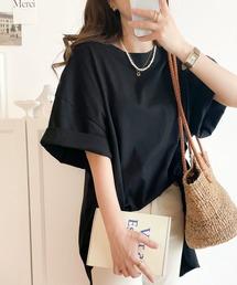 tシャツ Tシャツ 1枚でゆるかわ!サイドスリット半袖ビッグTシャツ|ZOZOTOWN PayPayモール店