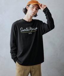tシャツ Tシャツ ロゴ×フォトプリント オーバーサイズクルーネック長袖Tシャツ|ZOZOTOWN PayPayモール店