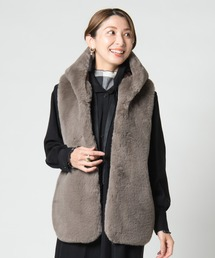 ベスト Radish fur vest / ラディッシュファーベスト|ZOZOTOWN PayPayモール店
