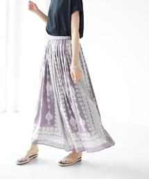 スカート パネル柄マキシギャザースカート *◇|ZOZOTOWN PayPayモール店