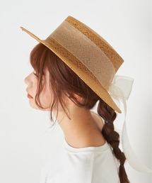 帽子 ハット オーガンリボンカンカン帽 ZOZOTOWN PayPayモール店