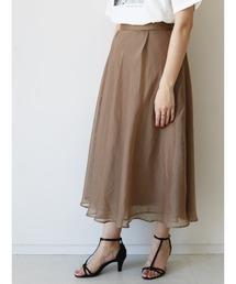 スカート シフォン楊柳×レースフレアスカート ZOZOTOWN PayPayモール店
