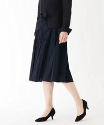 スカート 【大きいサイズあり・13号】ジョーゼット消しプリーツスカート|ZOZOTOWN PayPayモール店
