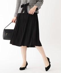 スカート 【大きいサイズあり・15号〜19号】ジョーゼット消しプリーツスカート|ZOZOTOWN PayPayモール店