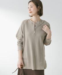 tシャツ Tシャツ F by ROSSO ワッフルヘンリーネックプルオーバー ZOZOTOWN PayPayモール店