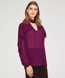 シャツ ブラウス ジョーゼットウェーブフルイドハイネックシャツ・ブラウス|ZOZOTOWN PayPayモール店