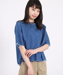 シャツ ブラウス [D.M.G. /ディーエムジー] 4.5ozデニム カットオフシャツ|ZOZOTOWN PayPayモール店