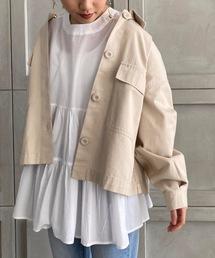 ジャケット ミリタリージャケット コットンチノツイル/デニム ショートシャツジャケット|ZOZOTOWN PayPayモール店