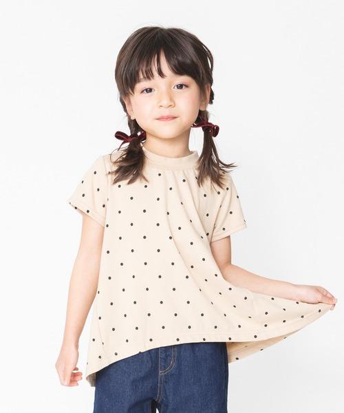 tシャツ アウトレット☆送料無料 Tシャツ UVカット ドット柄半袖Tシャツ メーカー直売