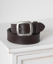 ベルト 【Levi's/リーバイス】レザーベルト 35mm スクエアバックル サイドステッチ 牛革|ZOZOTOWN PayPayモール店