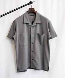 シャツ ブラウス ルーズシルエット 梨地半袖オープンカラーシャツ|ZOZOTOWN PayPayモール店