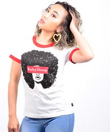 tシャツ Tシャツ ボックスロゴ×アフロガール T-SH|ZOZOTOWN PayPayモール店