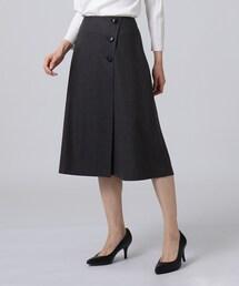 スカート ラップ風タックフレアスカート|ZOZOTOWN PayPayモール店
