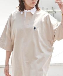 ポロシャツ U.S. POLO ASSN. /ユーエスポロアッスン 別注ワンポイント刺繍 ビッグシルエット半袖ラガーシャツ ZOZOTOWN PayPayモール店