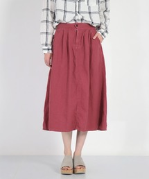 スカート [D.M.G. / ディーエムジー] リネンキャンバス イージータックスカート|ZOZOTOWN PayPayモール店