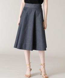 スカート 《Maglie par ef-de》デニムフレアスカート ZOZOTOWN PayPayモール店