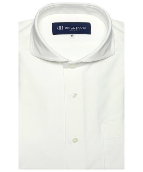 ビズポロ 割引も実施中 形態安定ノーアイロン ホリゾンタルワイド 直輸入品激安 半袖ビジネスニットワイシャツ
