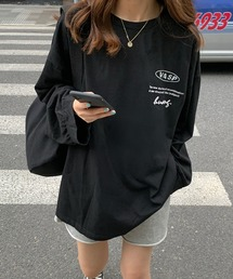 tシャツ Tシャツ 英字プリント ストリートなビッグサイズのルーズロンT|ZOZOTOWN PayPayモール店
