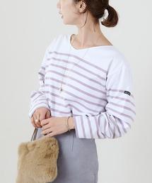 tシャツ Tシャツ 【Le minor/ルミノア別注】ボーダーVネックロンTバスクシャツ|ZOZOTOWN PayPayモール店