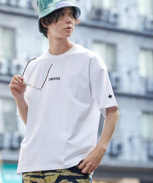 tシャツ Tシャツ WEB限定 CONVERSE ビッグシルエットカットソー 別注ロゴ刺繍 コンバース 半袖 ギフ_包装 デポー